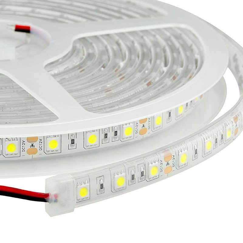 Tira LED EPISTAR SMD5050, DC24V CC, 5m (60 Led/m) - IP67, Blanco neutro